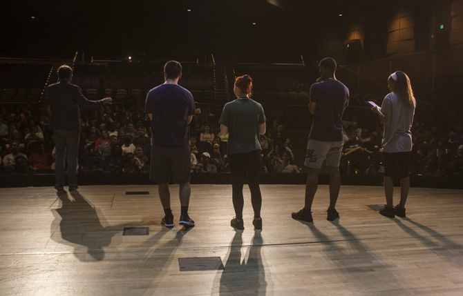 Sean Bott, Speaker, Entertainer, Mind-Reader performs at LSU